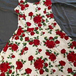 H&M floral pattern dress